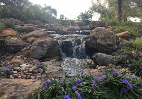 Pond Build with Boulder Falls in San Antonio Texas