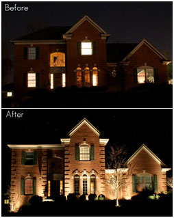 Halo Outdoor Lighting Landscape lighting for beauty and security halo outdoor consider the difference between this home before and after landscape lighting was added workwithnaturefo
